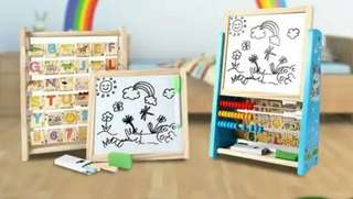 Learning Education Black White Board ABC123