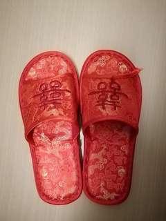 女裝出門婚宴中式拖鞋