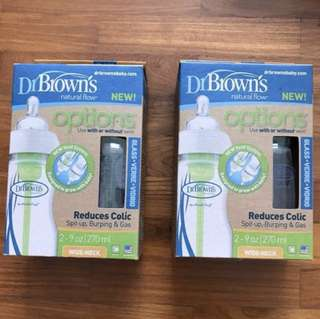 Dr Brown's wide neck glass bottle 270ml