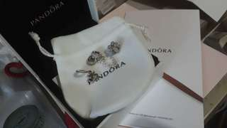 PANDORA CHARMS AND SAFETY CHAIN