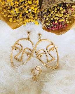 Reprised Hollow man shaped earrings