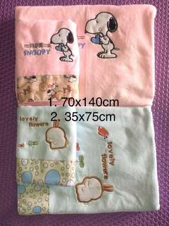 Soft baby towel( 2 size in 1 set- refer picture attachment)