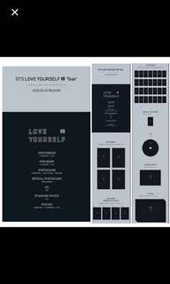 BTS LOVE YOURSELF TEAR