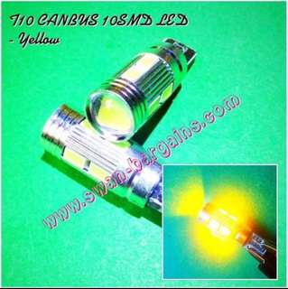 Super Bright Yellow Amber T10 W5W Canbus Error-free 4014 SMD LED Car Bike Projector Lens Light Bulb