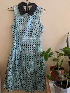 Closet London size 8 collared dress with pockets