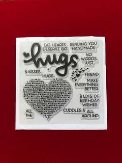 Words stamps #8 hearts stamps #2 scrapbook clear stamp