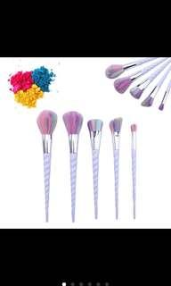 5 pcs unicorn makeup brushes