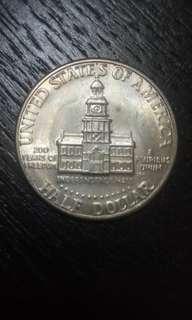 1776 · 1976 美金 半元