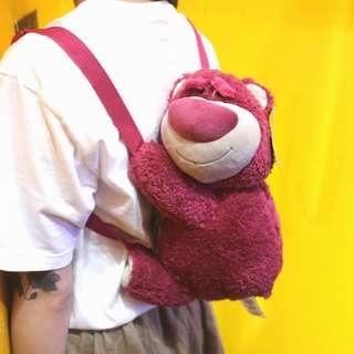 「Toy Story Pixar Disney 玩具總動員 熊抱哥 後背包 33X17CM@公雞漢堡」
