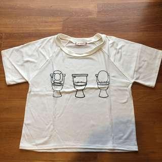 white toilet bowl shirt