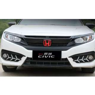 RED Honda Badge for Civic 10th Gen
