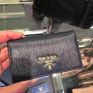 Prada 黑藍色cardholder / small wallet 卡片套