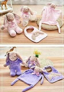 ((預購,14天到貨))西哈小熊 嬰兒安撫巾四件組禮盒/彌月禮盒
