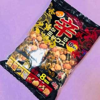日本製造 傳六辣味什錦豆 26g 10包入裝