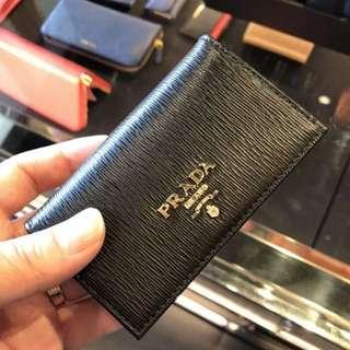 Prada 黑色 cardholder / small wallet 卡片套