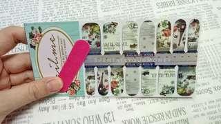 nailme vintage rose france nail sticker/wraps/foil/stiker kuku