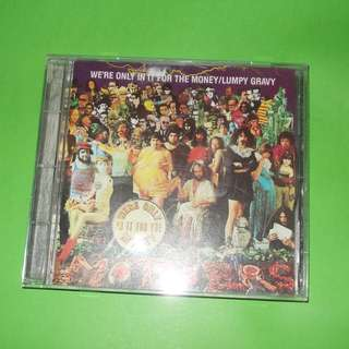 CD FRANK ZAPPA : WE'RE ONLY IN IT FOR THE MONEY / LUMPY GRAVY ALBUM (1986 REMASTERED) PSYCHEDELIC EXPERIMENTAL ROCK