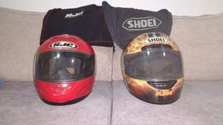 Shoei n hjc full face helmets