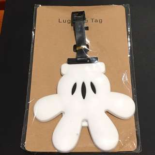 Mickey Mouse Gloves Luggage Tag