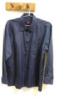 全新 長袖襯衫 深藍