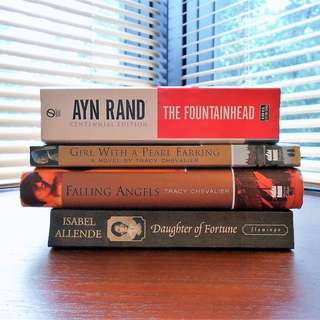 AYN RAND / TRACY CHEVALIER / ISABEL ALLENDE Books