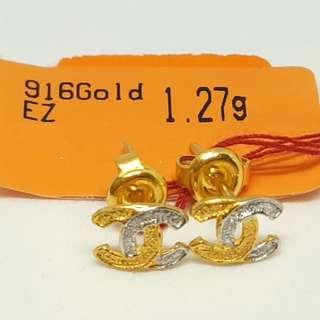 916 Gold Chanel Earring