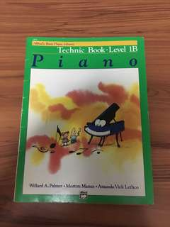 Alfred Basic Piano Library technic Book 1B
