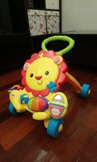 費雪音樂獅子踏步學步車