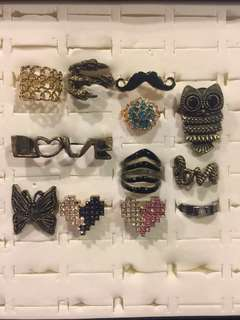 Assorted Rings -RM12 with postage