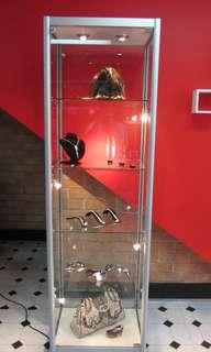 Glass tower shop display
