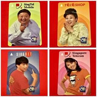 《4pcs》Vintage Phone Card