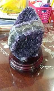 Purple Amethyst agate geode