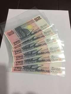 Spore Ship Series Purple $2 x 6 Banknotes
