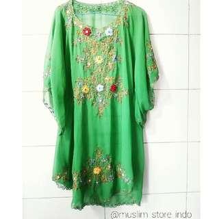 tunik batwing green