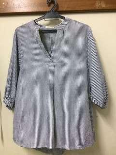 Padini Striped Blue Blouse