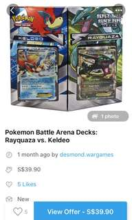 Buying Rayquaza and keldeo battle arena