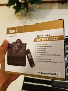 battery pack with remote control sony a7ii a7rii a72 a7r2 a7 mark 2 a7r mark 2