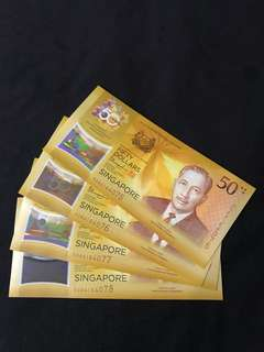 CIA 50 Singapore Commemorative $50 With Prefix 50AA 4 Run