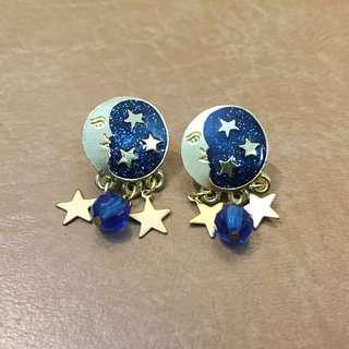 美國古董newpro 琺瑯耳環