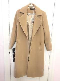 Misguided Petite Camel Coat