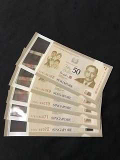 SG50 Commemorative $50 With 5 Run