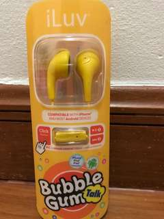 Brand New Earphone iLuv with mic and remote control