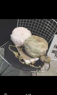 Furry sling bag