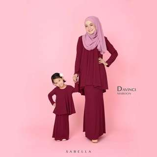 KURUNG DAVINCI MOM & GIRL SET SEDONDON