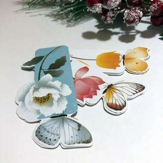 1pc Butterfly Bookmark With Romantic Words