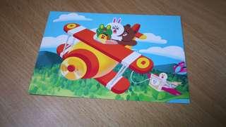 Line character postcard
