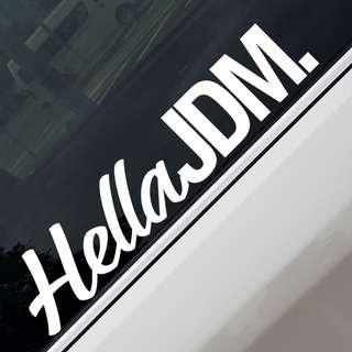 HellaJDM Car Sticker Decal
