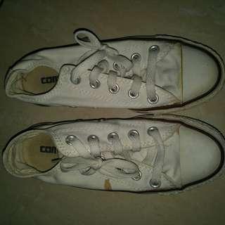 Converse white low original(nego)