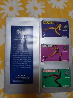 Sony Walkman Limited Edition 1994 Vintage MRT cards