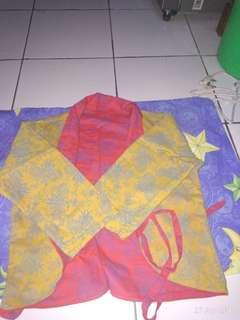 Baju batik luaran bisa dua warna bulak balik